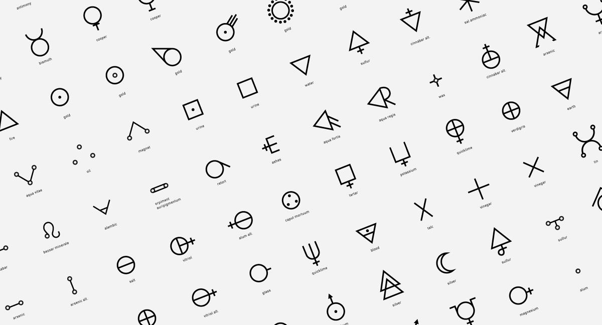 Alchemical Symbols P I P O V A